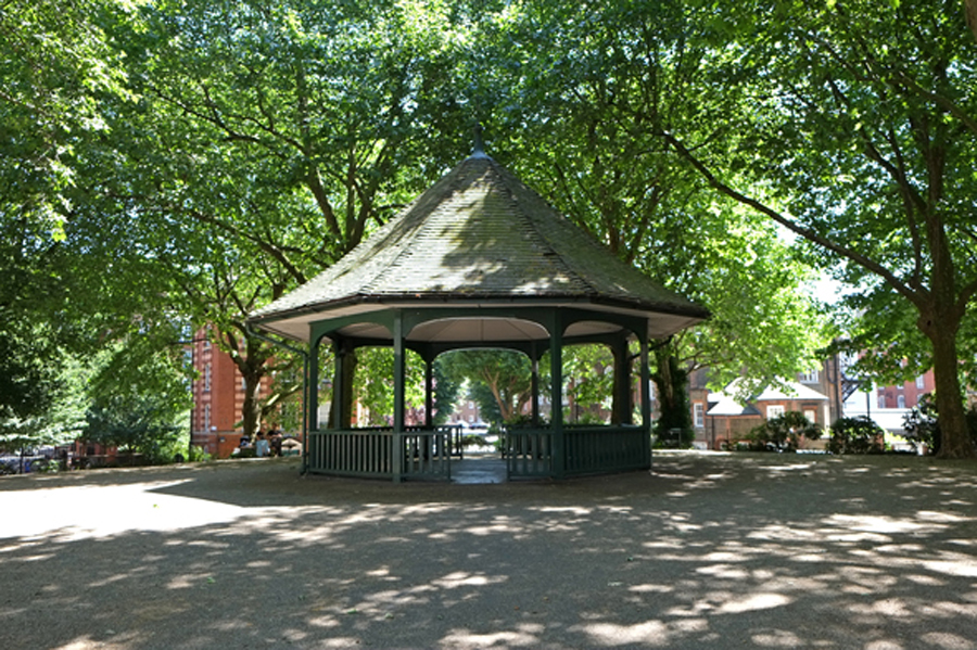 Rubble from the condemned slums was used to create an elevated platform for the central garden and bandstand at Arnold Circus, named after Liberal politician, newspaper editor and reformer Sir Arthur Arnold. Arnold was also chairman of London County Council in the mid 1890s ©Michelle Mason