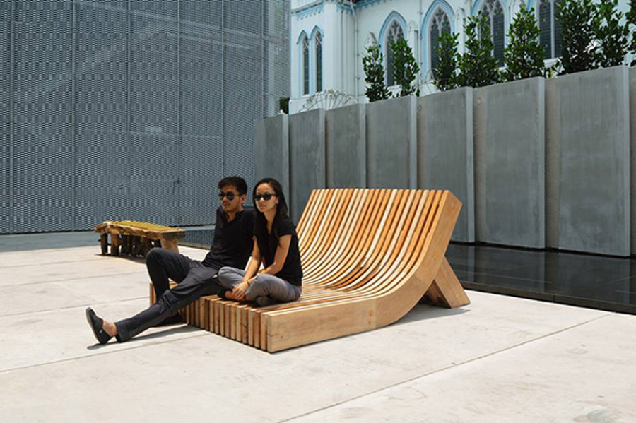 The People's Bench that Anonymous designed for SingaPlural's 30LifeStories exhibition_Source-madebyanonymous.com
