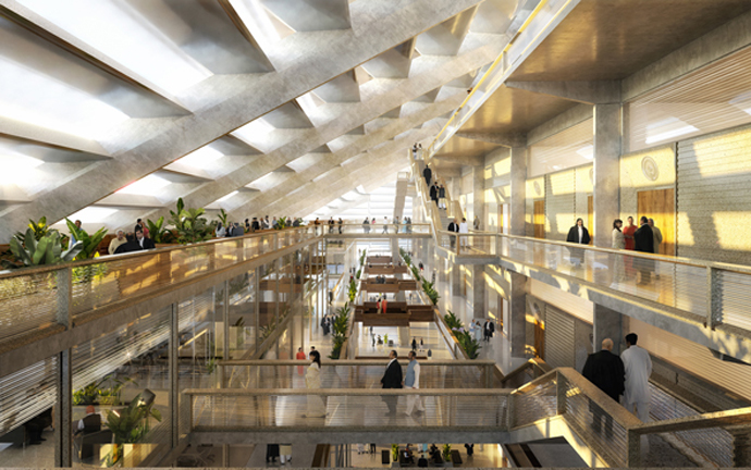 Rendering of interior of High Court_Source-Foster and Partners