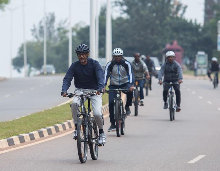 Rwanda President Paul Kagame participating in Car Free Day_Photo by-UrugwiroVillage_Source-Twitter