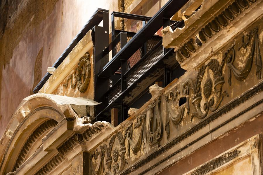 Alexandra Palace Theatre Detail. Photo© Richard Battye for FCBStudios