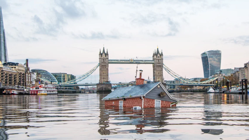 Extinction Rebellion activists staged an action on the river Thames in London