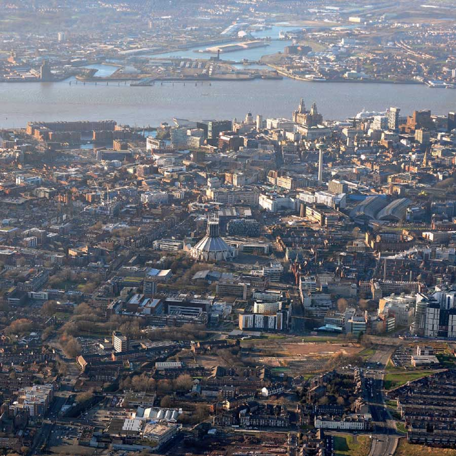 Liverpool Aerial image ©University of Liverpool