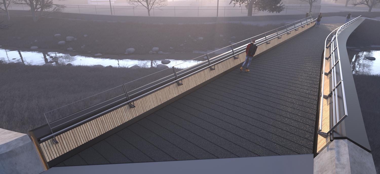 Ballingen Footbridge, Photo ©Moxon Architects