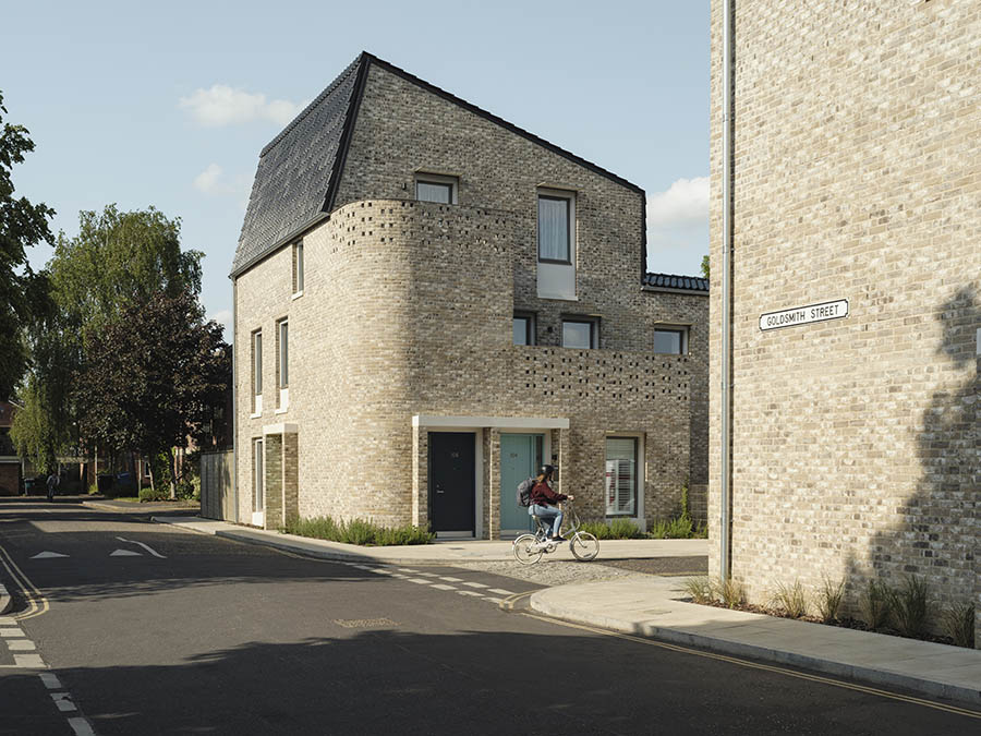 Affordable Housing winner: Goldsmith Street, Mikhail Riches with Cathy Hawley. UK