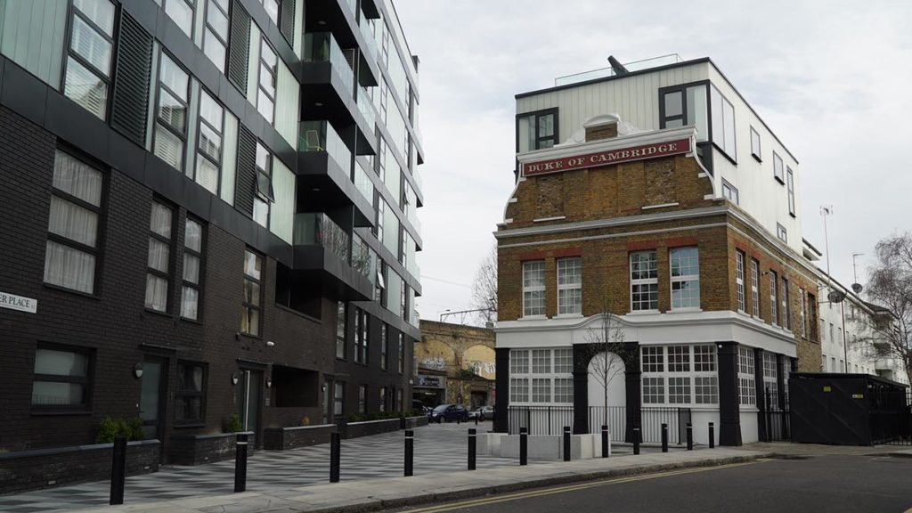 Featured_The Duke of Cambridge, Bethnal Green, façade, current day ©Design Exchange