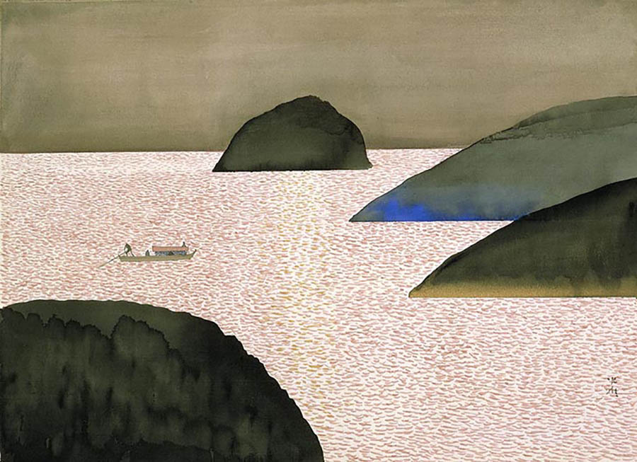 The Pilgrimage to Chikubu Island from 'The Tale of Heike Picture Book' Image Courtesy of ©Anno Art Museum, Tsuwano
