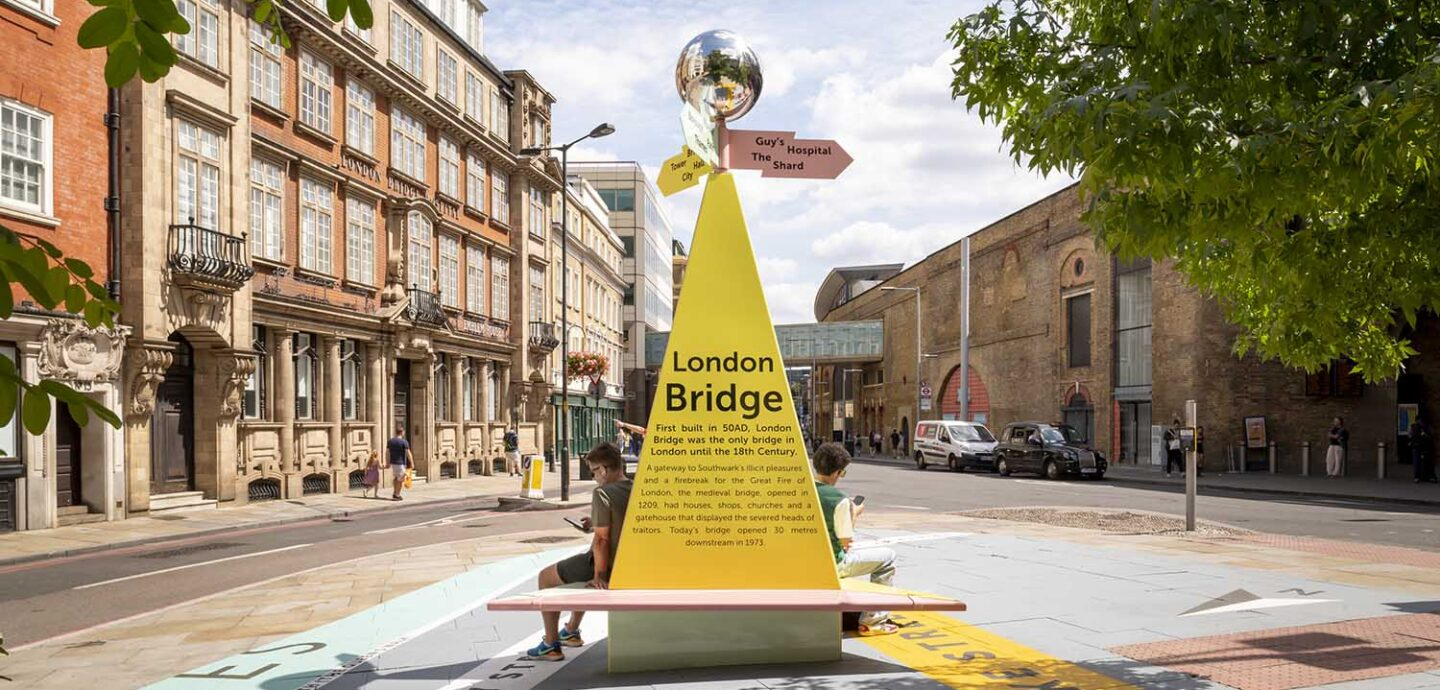 Tooley Street Triangle. You are Here by Charles Holland Architects. Photo ©Jim Stephenson & Luke Hayes 2020